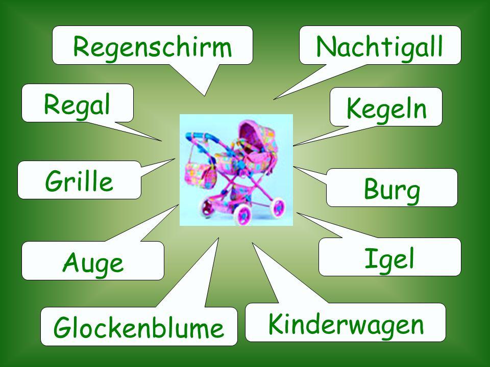 Regenschirm Nachtigall Regal Kegeln Grille Burg Igel Auge Kinderwagen Glockenblume