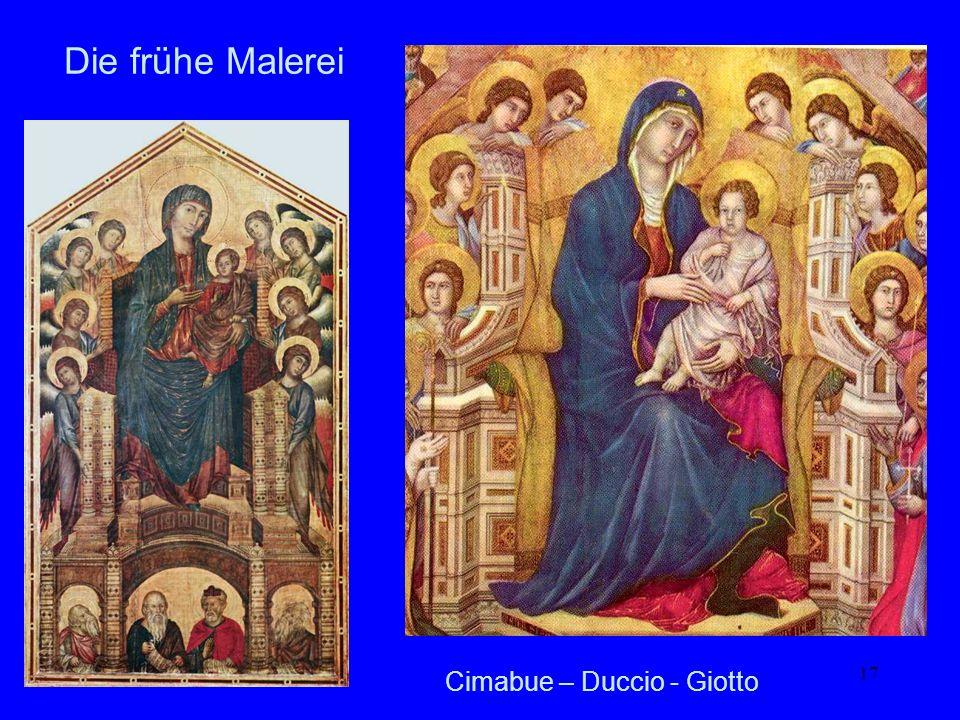 Die frühe Malerei Cimabue – Duccio - Giotto