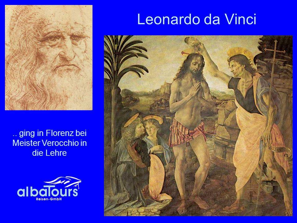 .. ging in Florenz bei Meister Verocchio in die Lehre