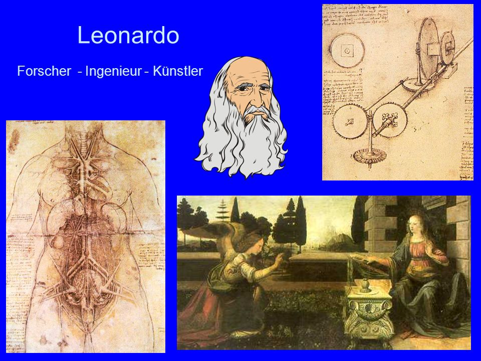 Leonardo Forscher - Ingenieur - Künstler