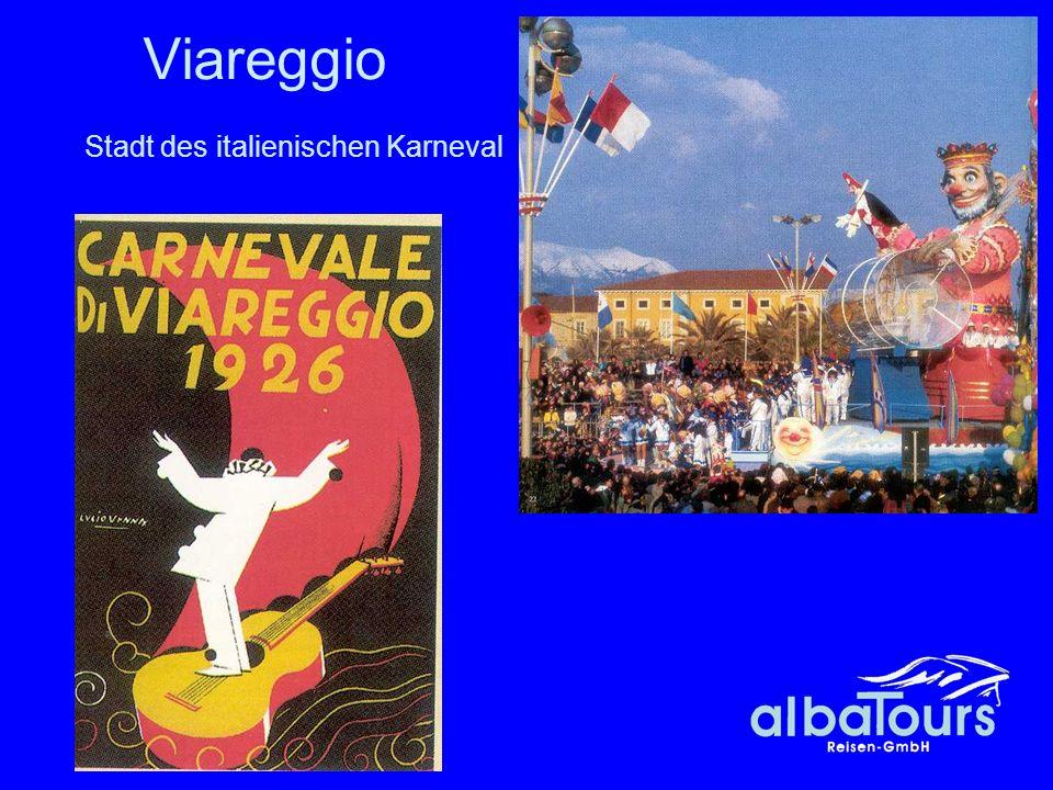 Viareggio Stadt des italienischen Karneval