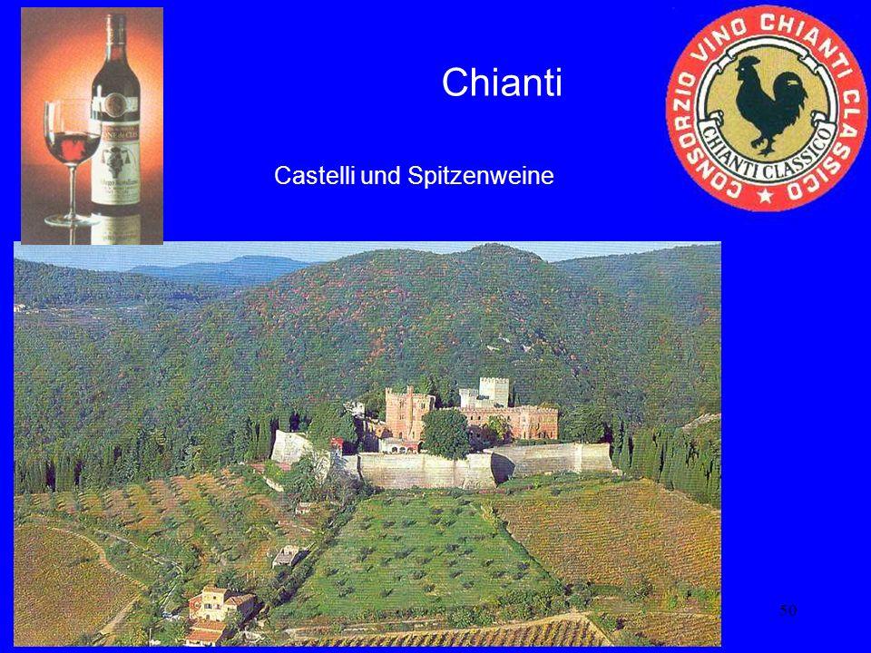 Chianti Castelli und Spitzenweine
