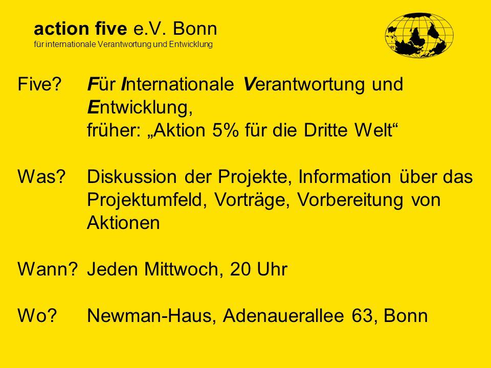 action five e.V. Bonn für internationale Verantwortung und Entwicklung