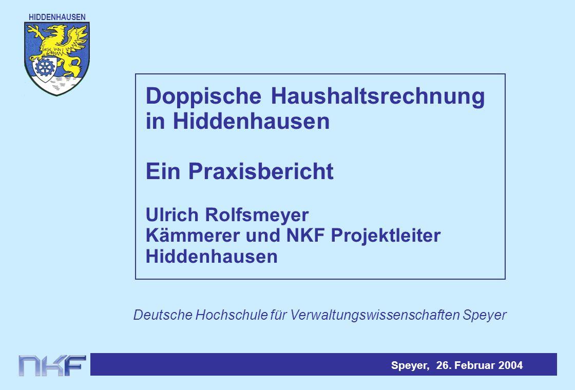 Doppische Haushaltsrechnung in Hiddenhausen