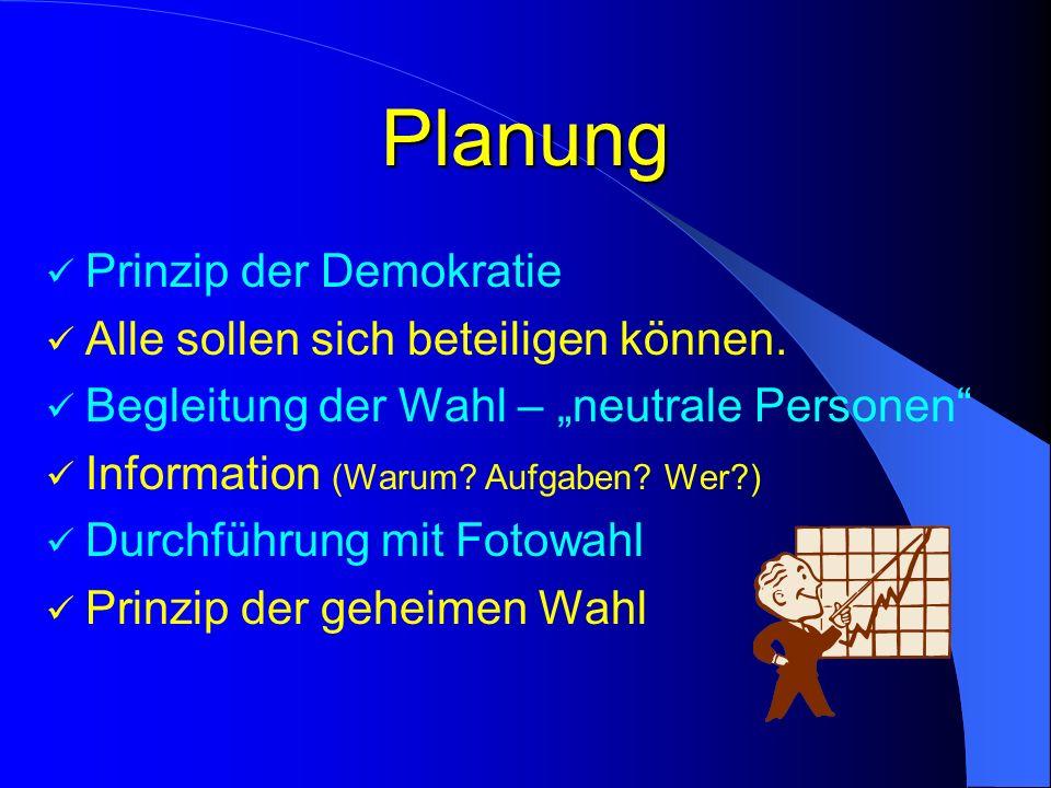 Planung Prinzip der Demokratie Alle sollen sich beteiligen können.