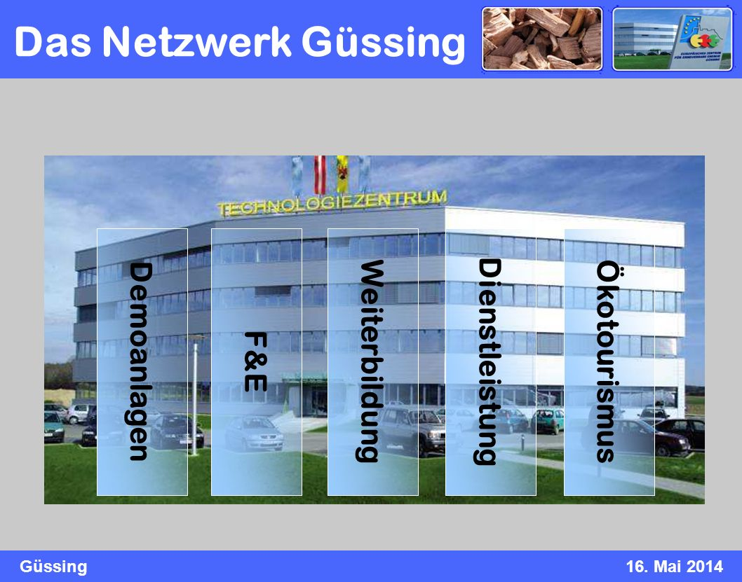 Das Netzwerk Güssing Demoanlagen F&E Weiterbildung Dienstleistung
