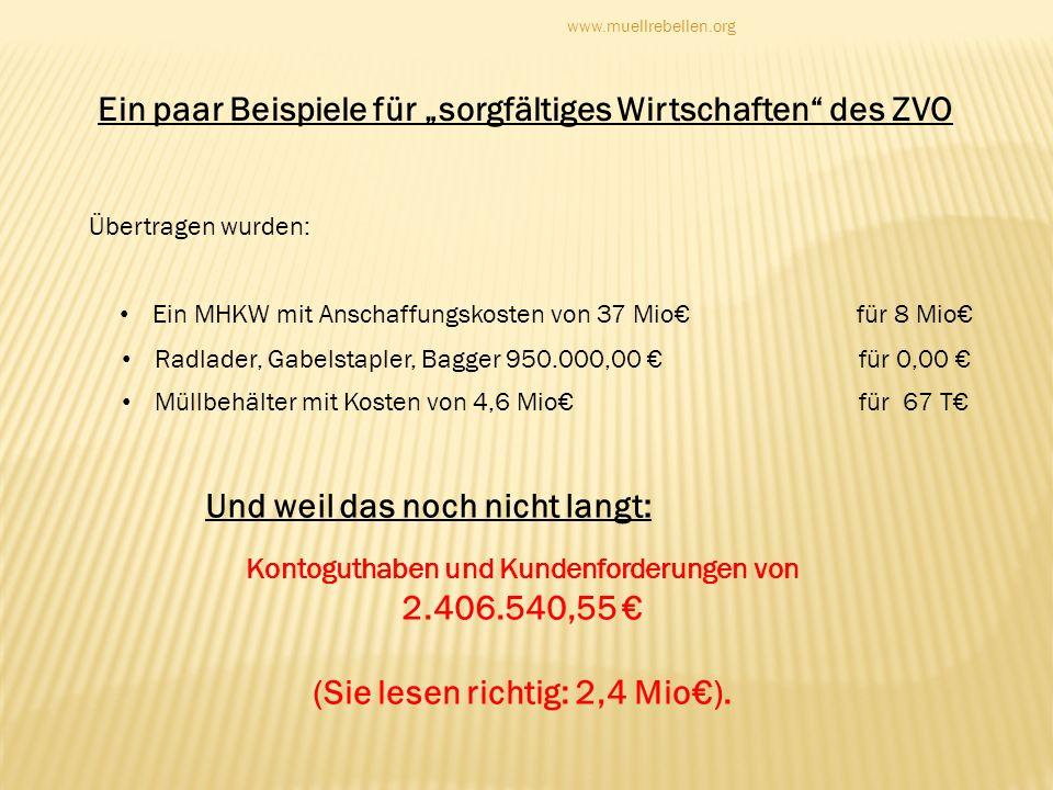 Kontoguthaben und Kundenforderungen von (Sie lesen richtig: 2,4 Mio€).