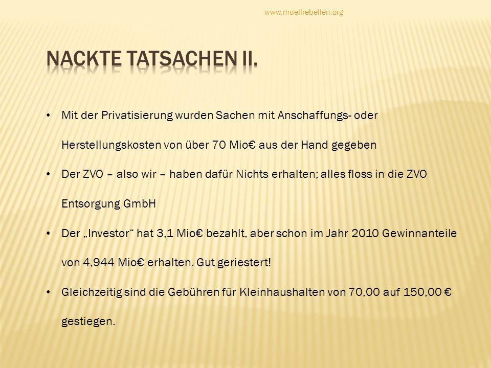 www.muellrebellen.orgNackte Tatsachen II.