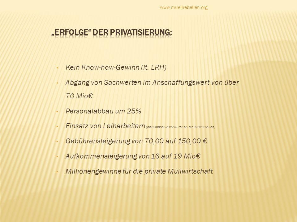 """""""Erfolge der PrivatisierUng:"""