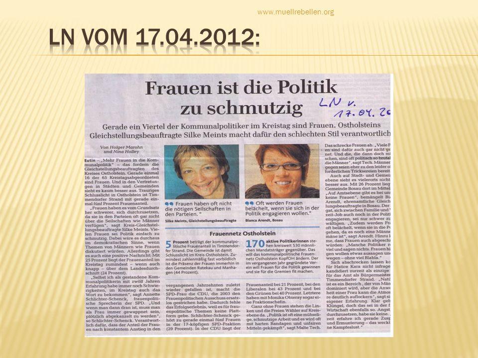 www.muellrebellen.org LN vom 17.04.2012: