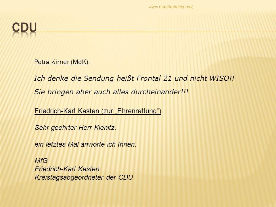 CDU Petra Kirner (MdK):