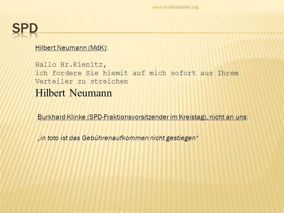 SPD Hilbert Neumann (MdK):