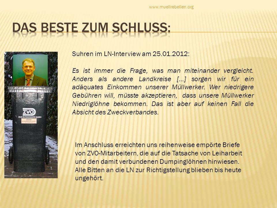 Das Beste zum Schluss: Suhren im LN-Interview am 25.01.2012: