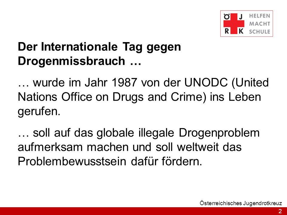 Der Internationale Tag gegen Drogenmissbrauch …