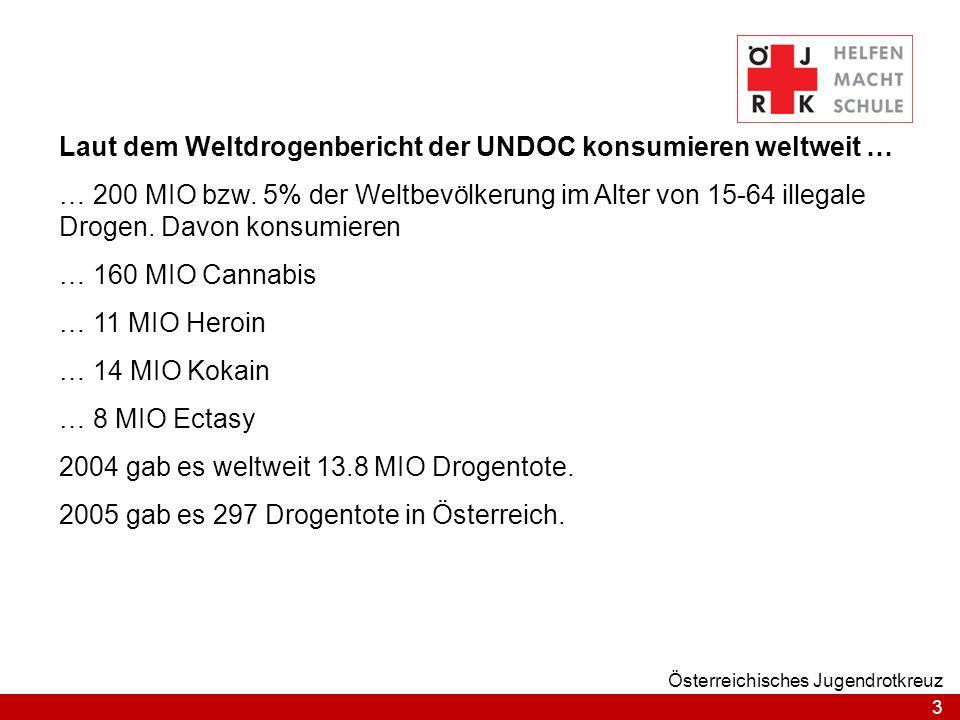 Laut dem Weltdrogenbericht der UNDOC konsumieren weltweit …