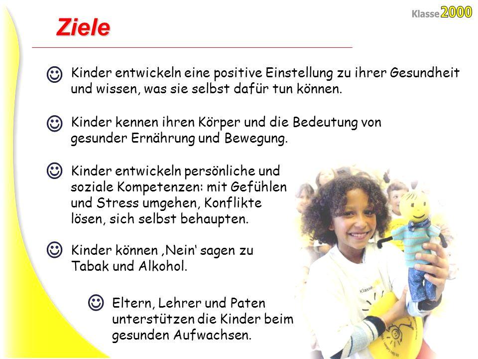 Ziele Kinder entwickeln eine positive Einstellung zu ihrer Gesundheit und wissen, was sie selbst dafür tun können.
