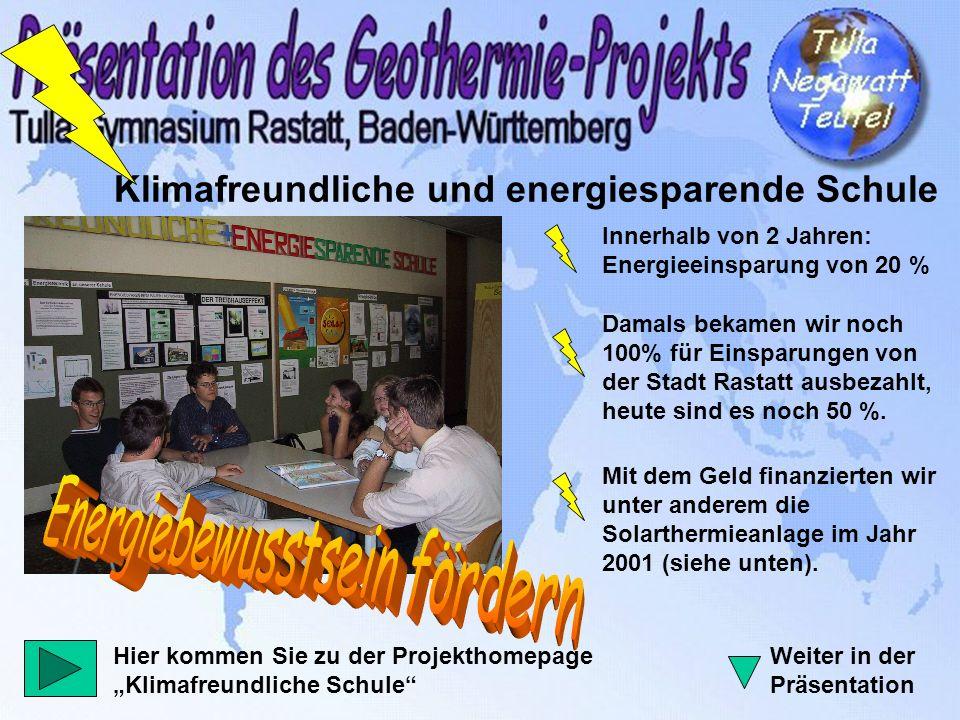 Klimafreundliche und energiesparende Schule