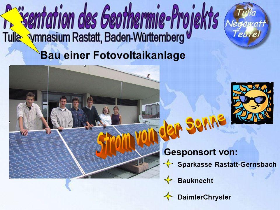 Bau einer Fotovoltaikanlage