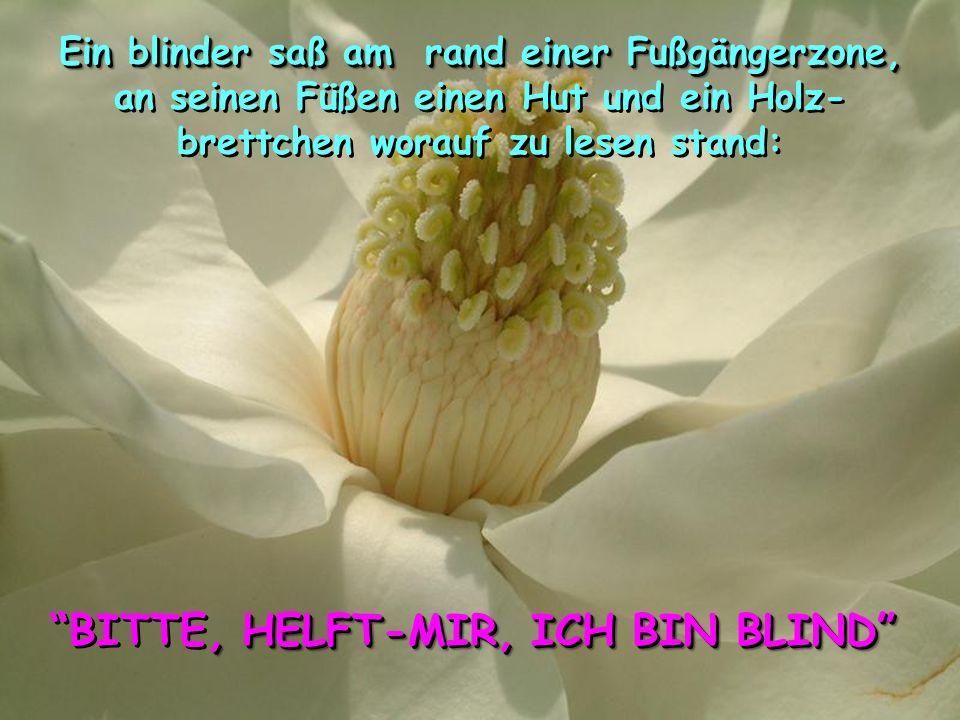 BITTE, HELFT-MIR, ICH BIN BLIND