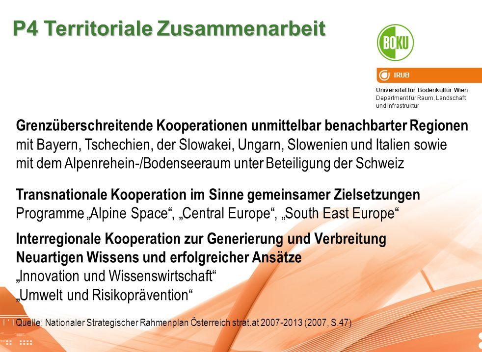 P4 Territoriale Zusammenarbeit