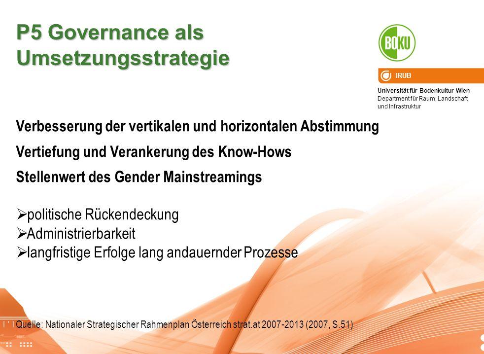 P5 Governance als Umsetzungsstrategie