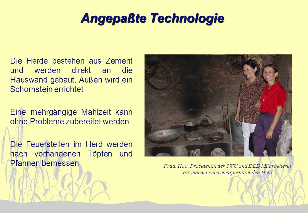 Angepaßte Technologie