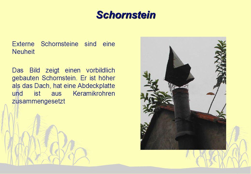 Schornstein Externe Schornsteine sind eine Neuheit