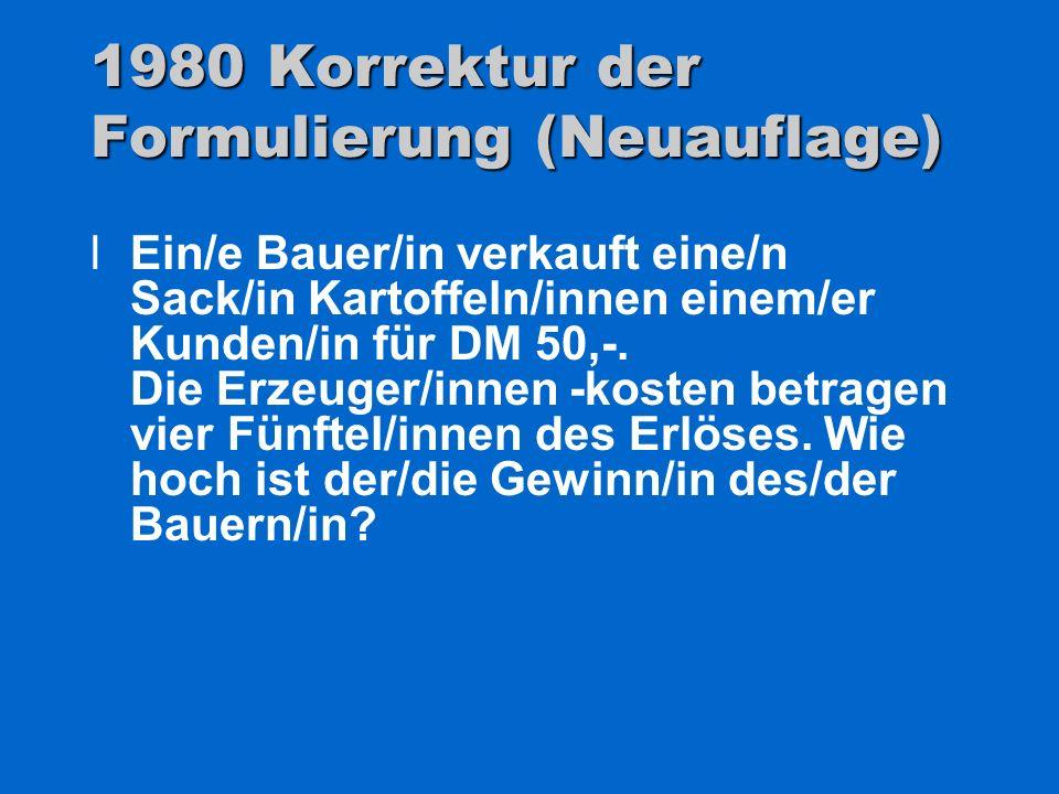 1980 Korrektur der Formulierung (Neuauflage)