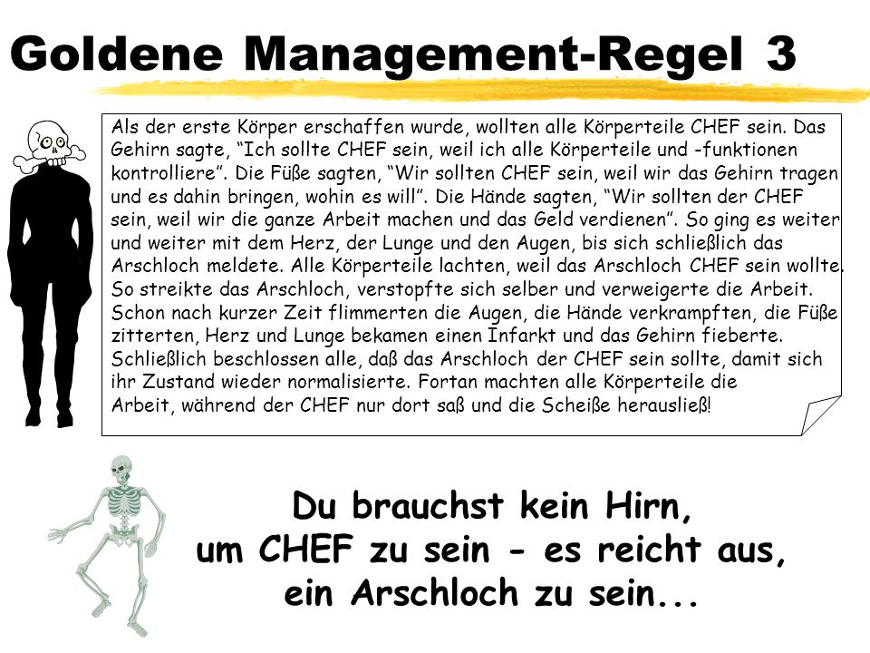 Goldene Management-Regel 3