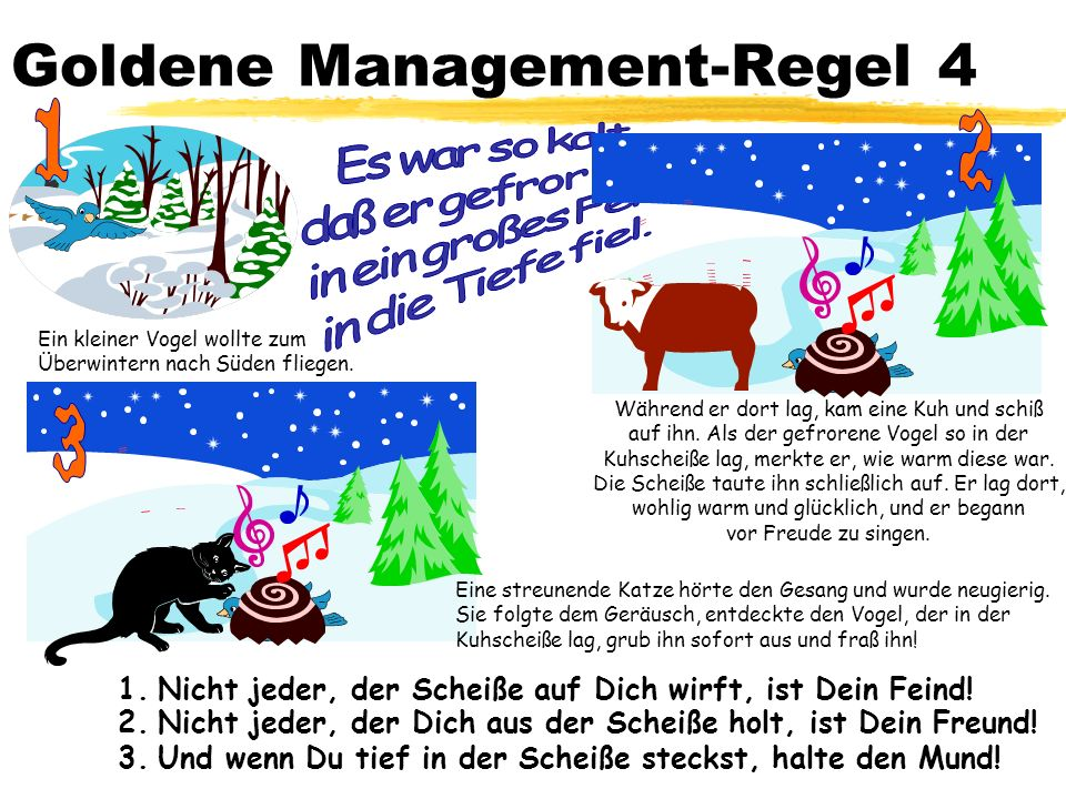 Goldene Management-Regel 4