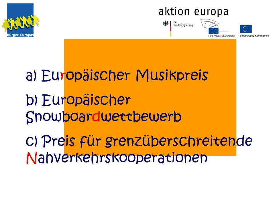 a) Europäischer Musikpreis