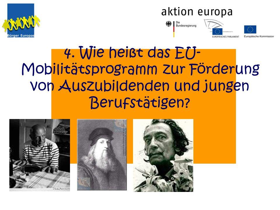 Wie heißt das EU-Mobilitätsprogramm zur Förderung von Auszubildenden und jungen Berufstätigen