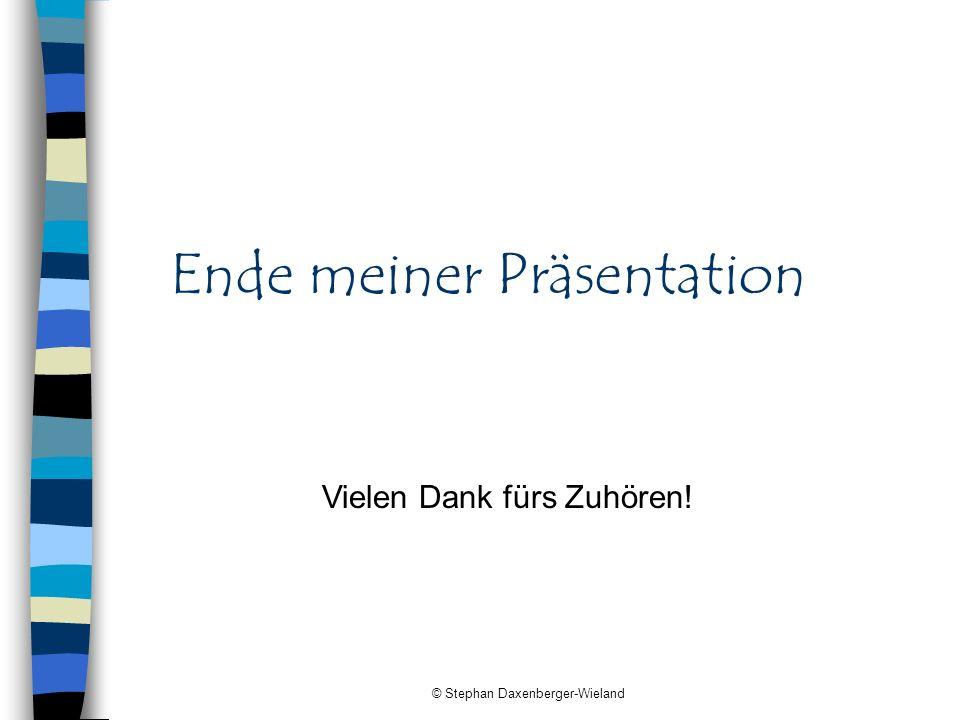 Ende meiner Präsentation
