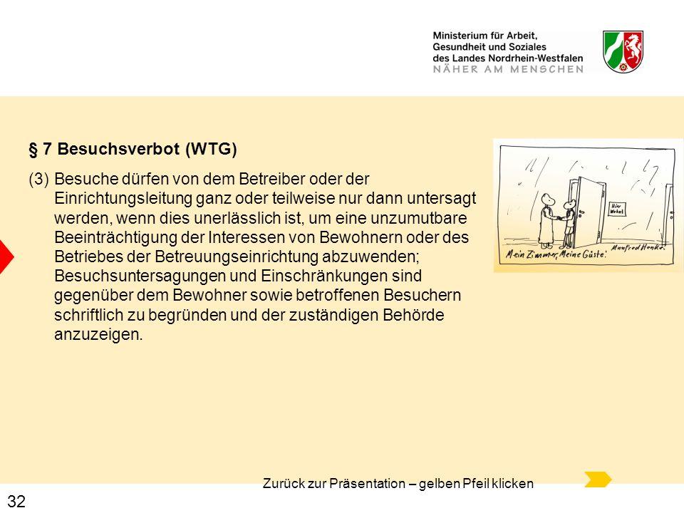 § 7 Besuchsverbot (WTG)