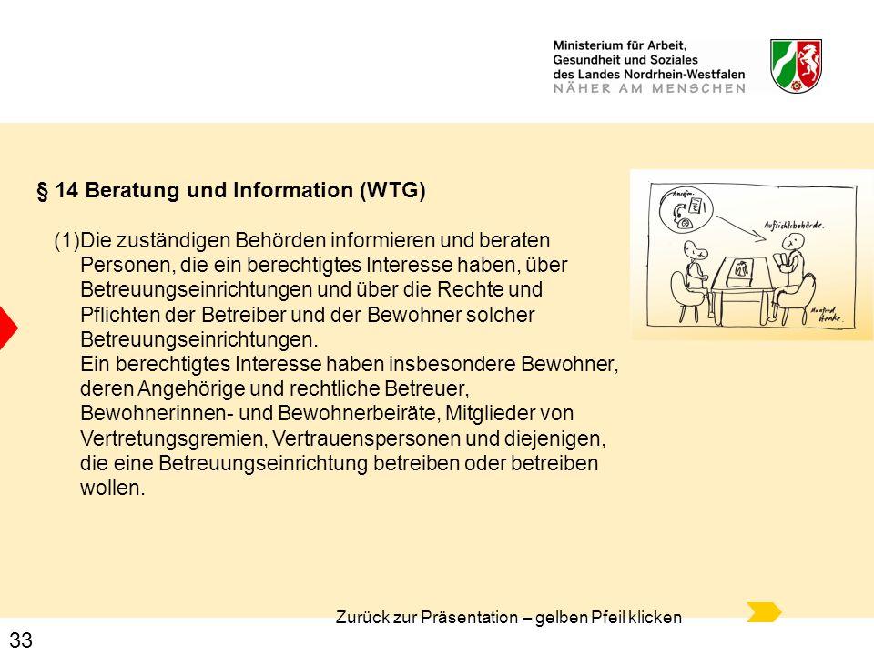 § 14 Beratung und Information (WTG)