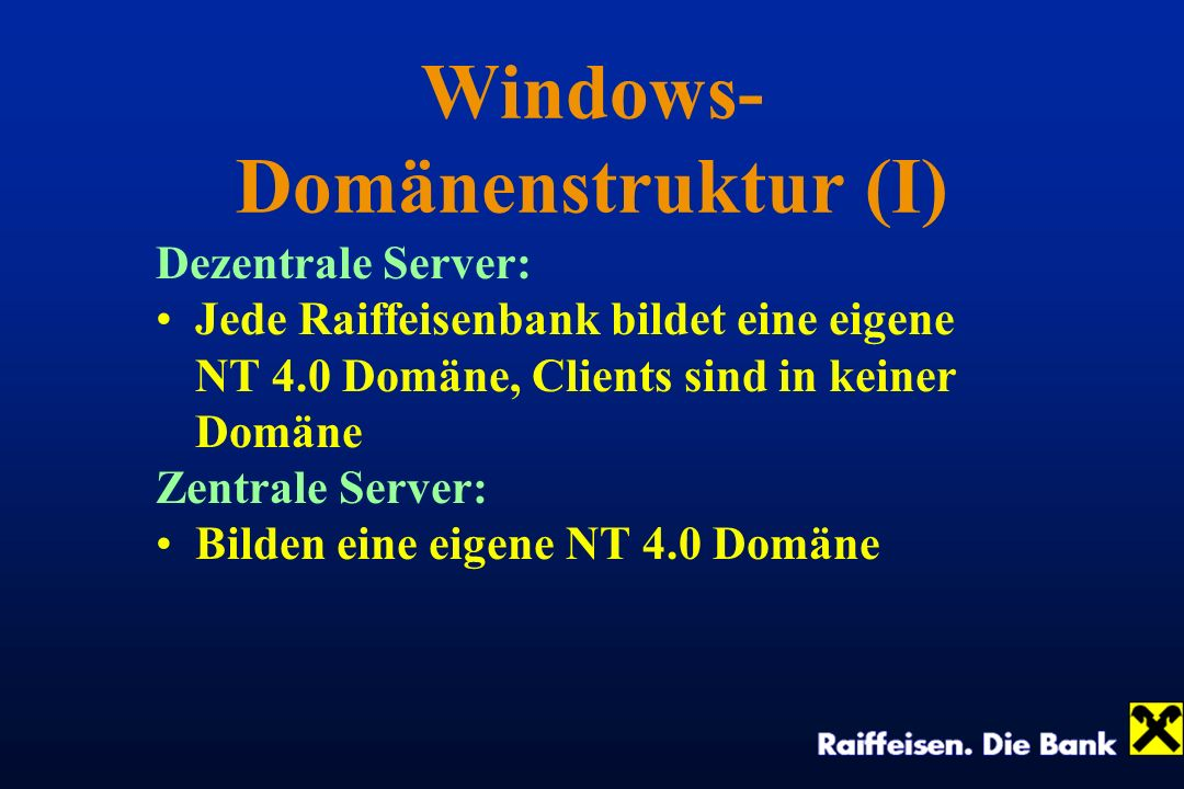 Windows-Domänenstruktur (I)