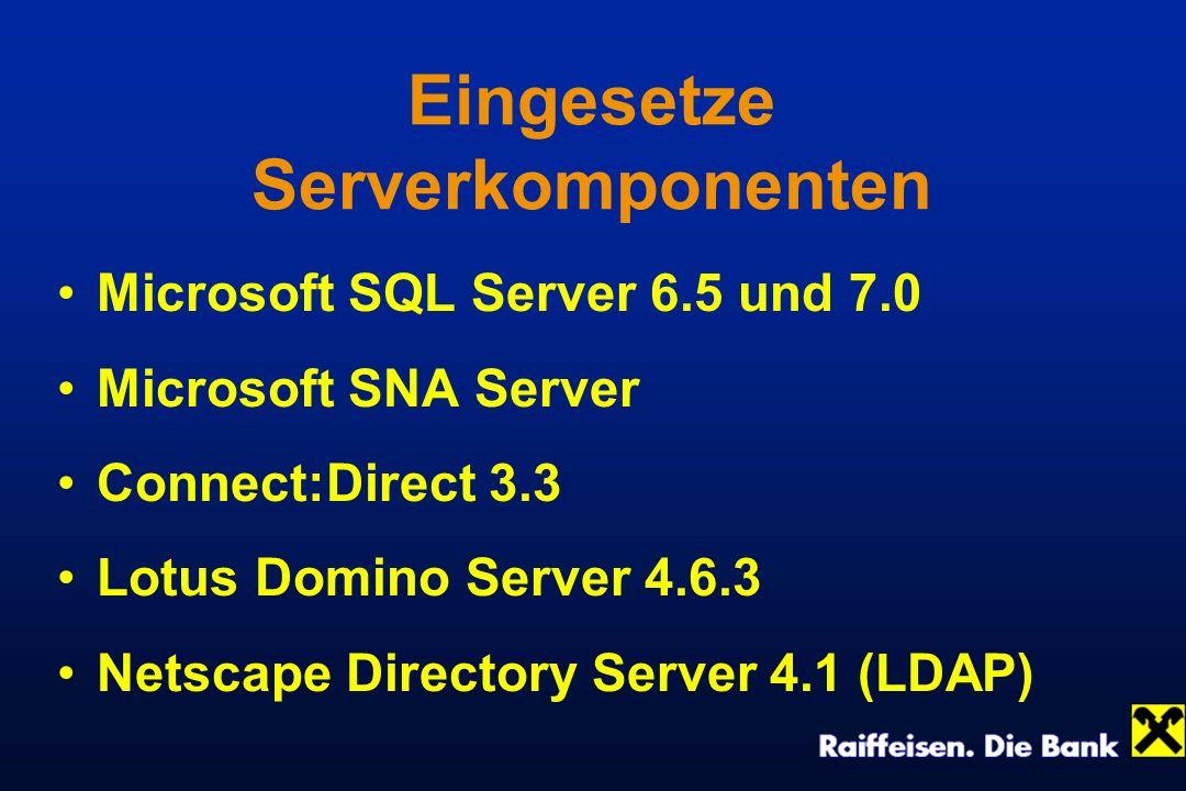 Eingesetze Serverkomponenten