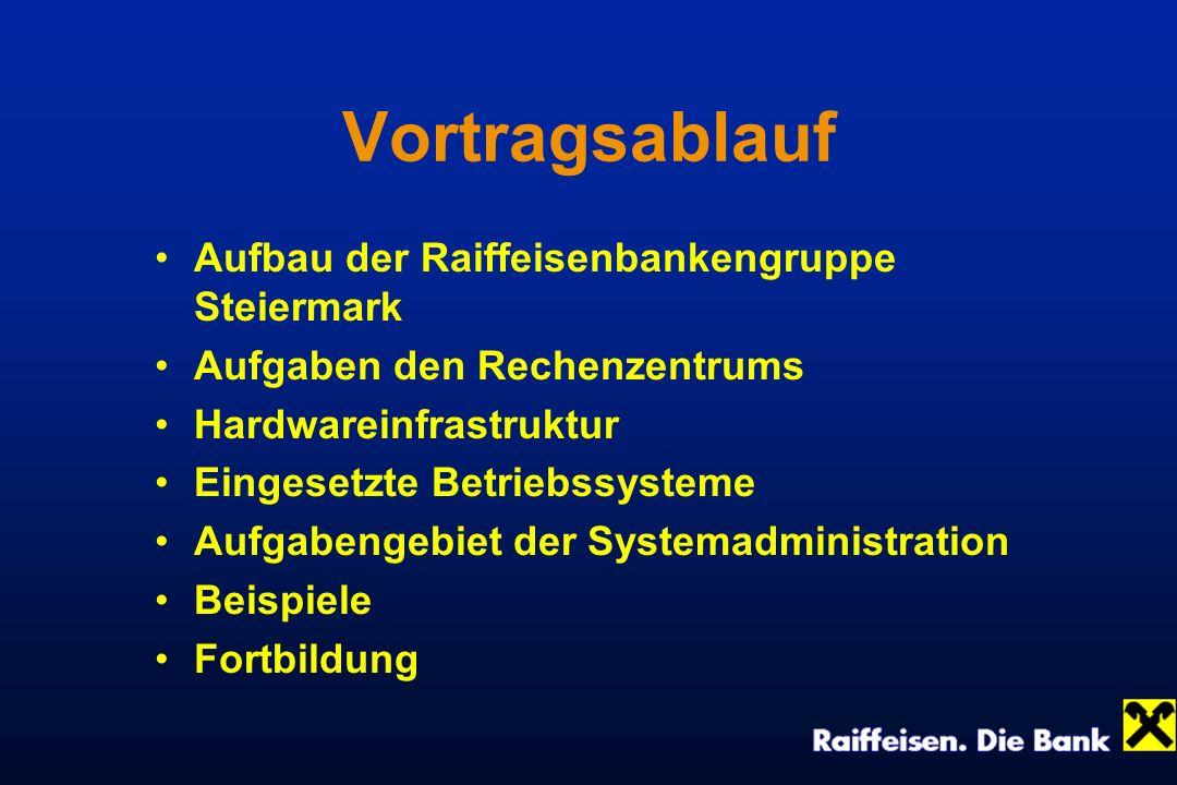 Vortragsablauf Aufbau der Raiffeisenbankengruppe Steiermark
