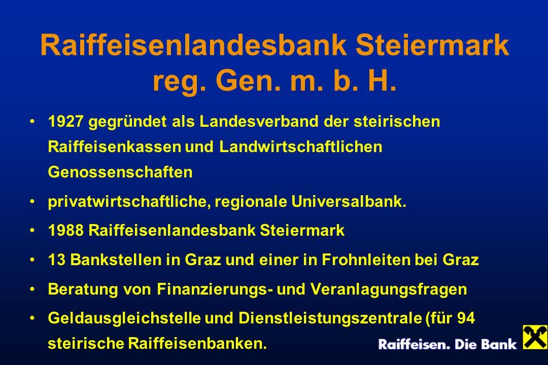 Raiffeisenlandesbank Steiermark reg. Gen. m. b. H.