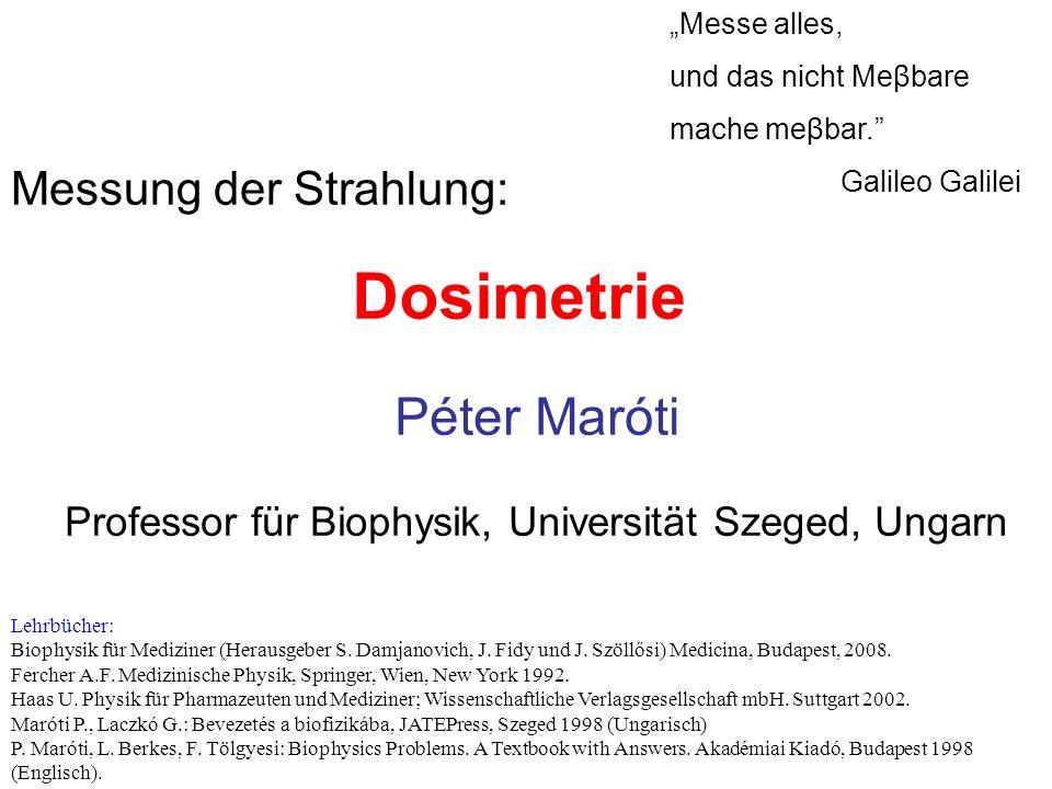 Professor für Biophysik, Universität Szeged, Ungarn