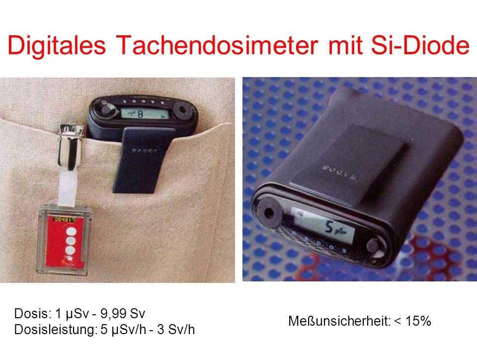 Digitales Tachendosimeter mit Si-Diode