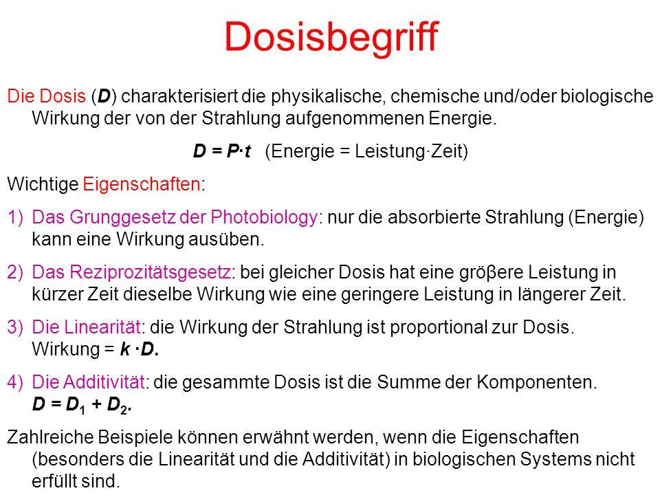 D = P·t (Energie = Leistung·Zeit)