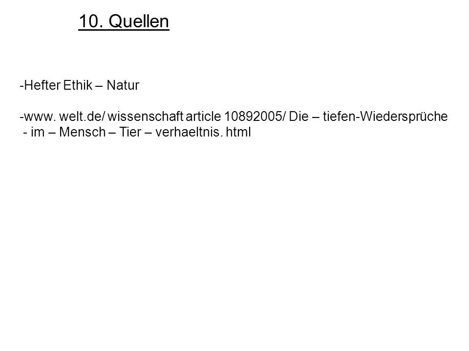 10. Quellen Hefter Ethik – Natur