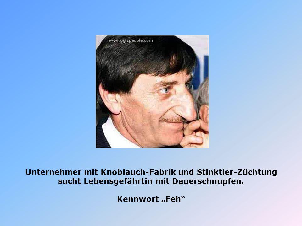 Unternehmer mit Knoblauch-Fabrik und Stinktier-Züchtung