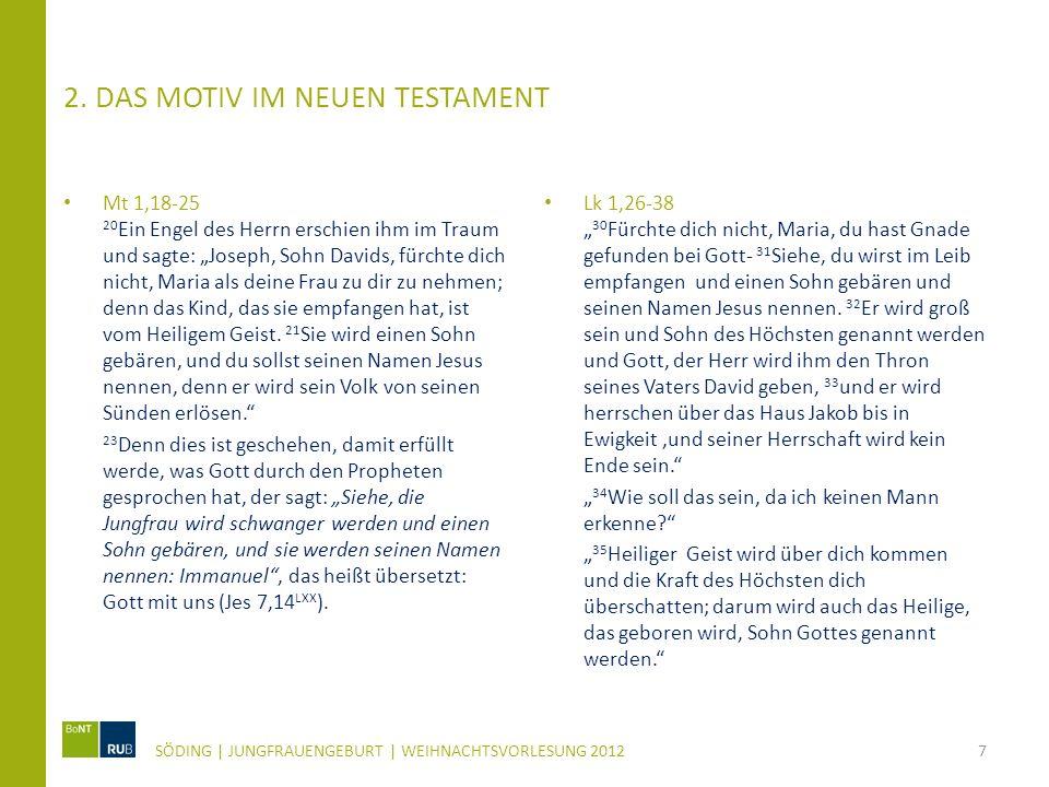 2. Das Motiv im Neuen Testament