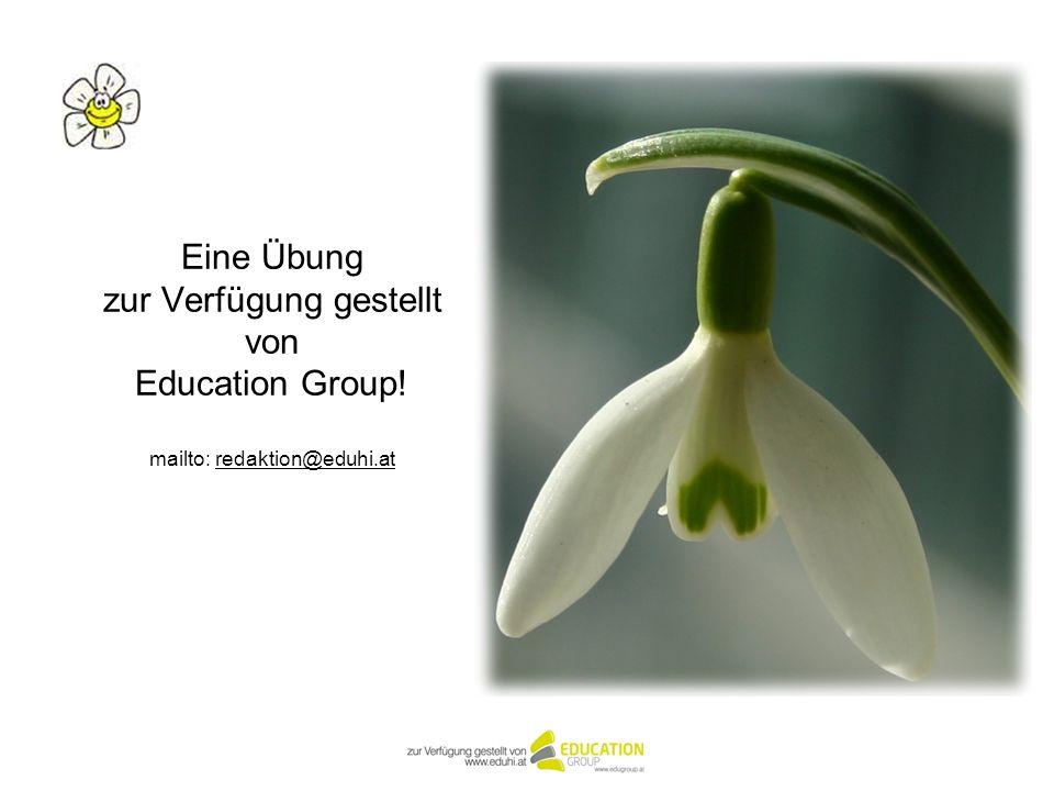 Eine Übung zur Verfügung gestellt von Education Group