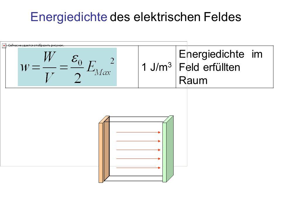 Energiedichte des elektrischen Feldes