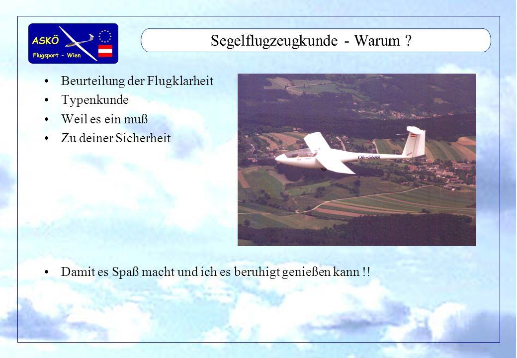 Segelflugzeugkunde - Warum