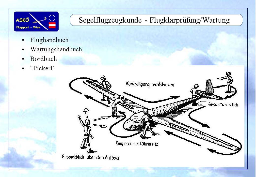 Segelflugzeugkunde - Flugklarprüfung/Wartung
