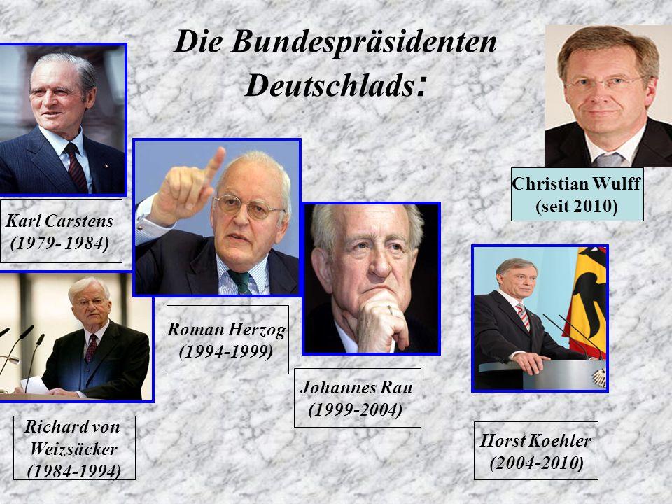 Die Bundespräsidenten Deutschlads: